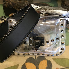 Load image into Gallery viewer, Stadium Approved Transparent Purse with Gunmetal Studs and Hardware