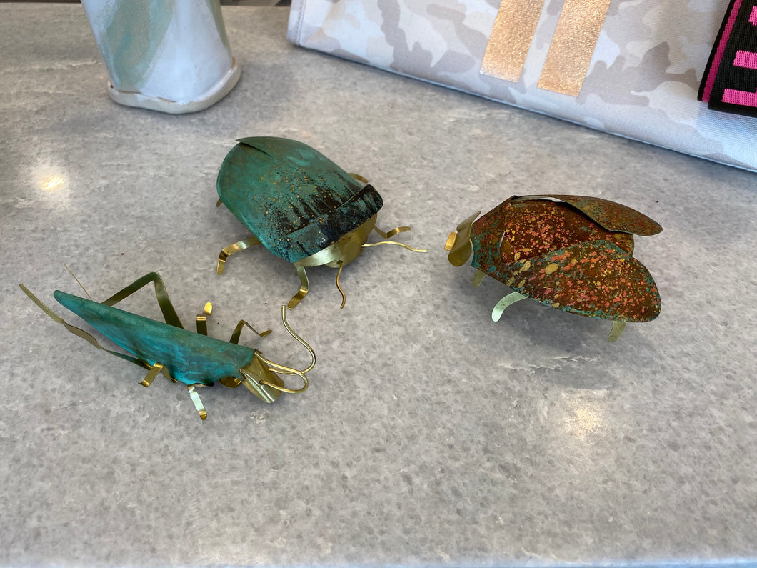 Handmade metal insects for your desk or coffee table. Collect them all.