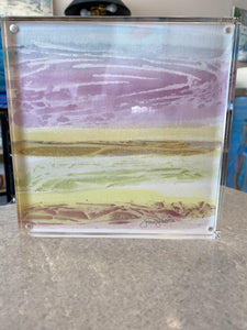 Tantalizing Watercolor in Acrylic Frame
