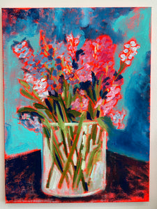 Brighten Your Day, Hyacinths, Original Oil Painting