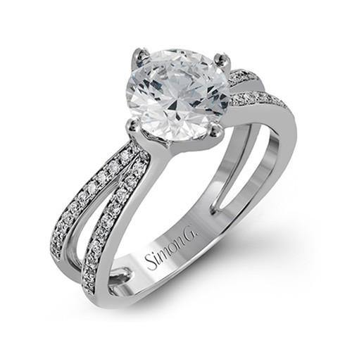 Simon G. 18k White Gold Diamond Engagement Ring - 5thavenuedesigns