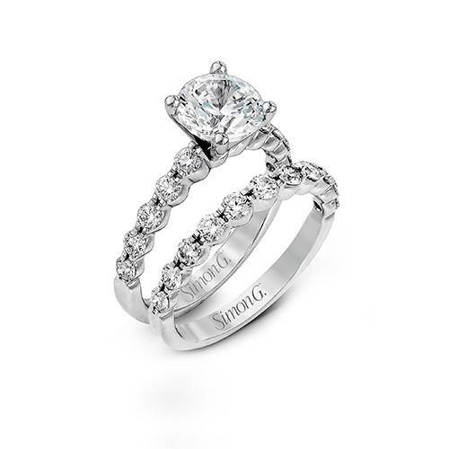 Simon G. 18k White Gold Engagement Ring - 5thavenuedesigns