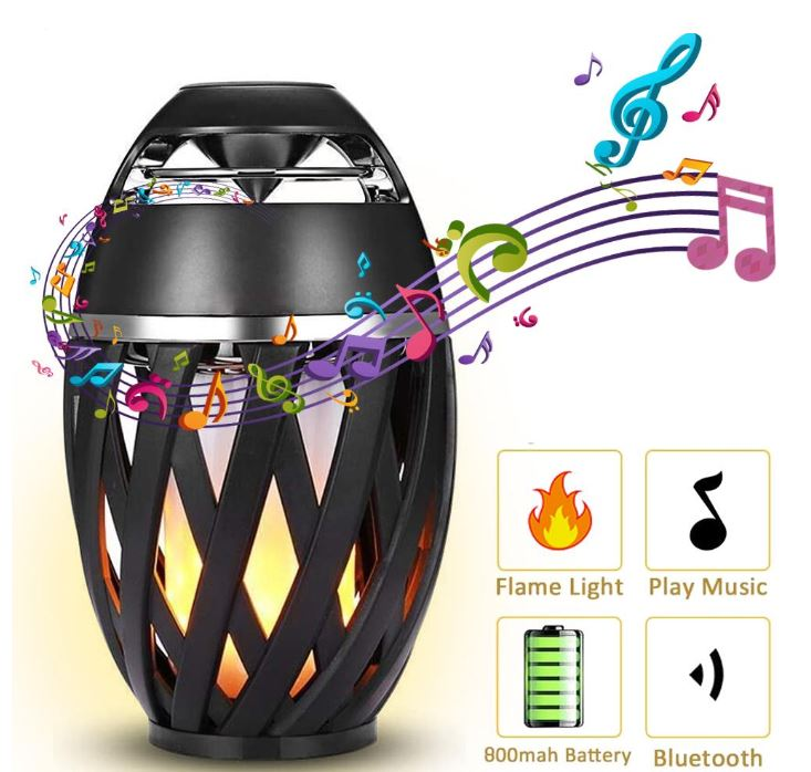 Speakerz™ LED Flame Bluetooth Speaker Outdoor Portable Atmosphere Light