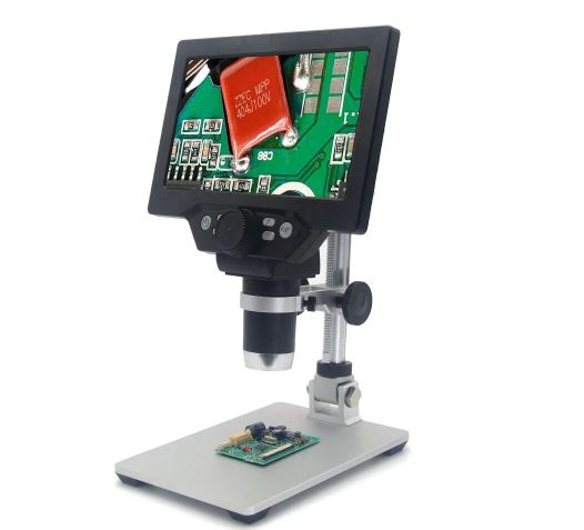 G1200 Digital Microscope 7 Inch Large Color LCD 12MP Screen 1-1200X Continuous Amplification
