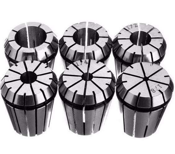 6 Pieces Spring Collet Set Chuck Collet for Milling Lathe Tool