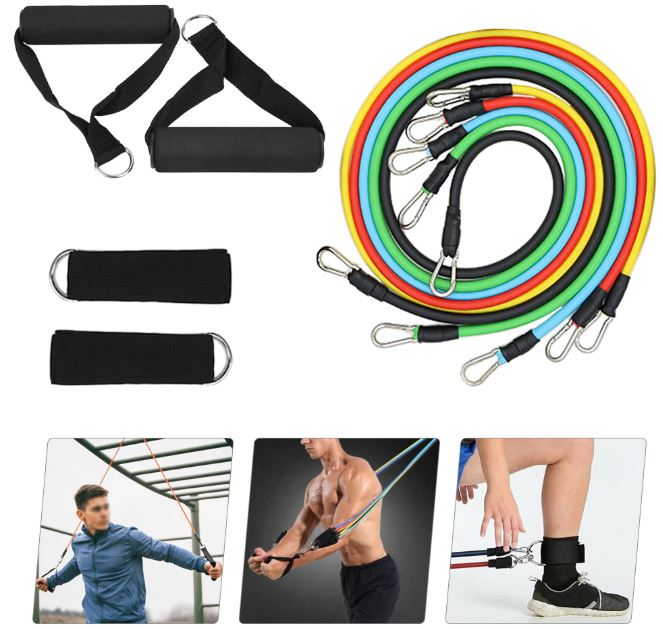 Resistance Loop Tube Bands Kit Workout Training Fitness Home Gym