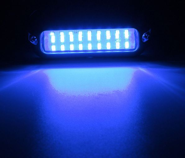 Boat Transom Light Underwater Marine Waterproof Blue 27 LED 50W