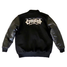 Load image into Gallery viewer, Stay Rich Stay Ruthless Letterman Jacket (Black)