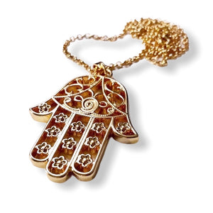 The Hamsa La Flor ~ necklace