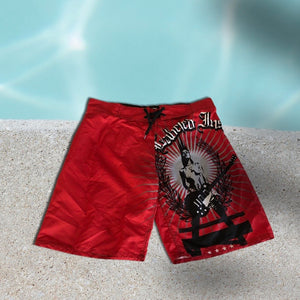 1ofaknd SP Board Shorts ~ red