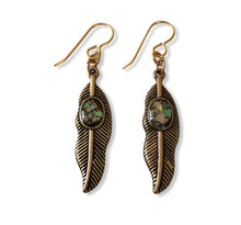 Load image into Gallery viewer, Feathers & Stone ~ earrings
