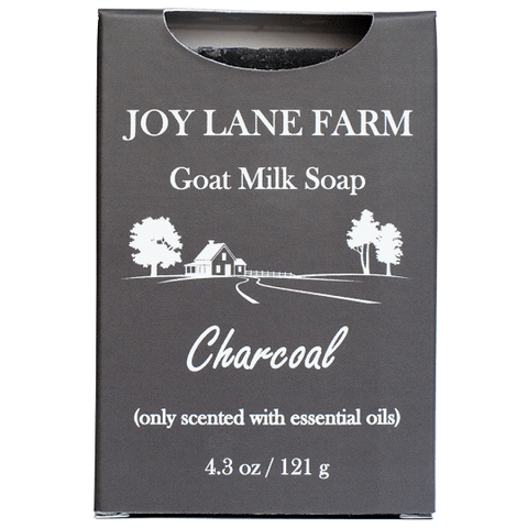 Charcoal Goat Milk Soap for Acne and Oily Skin as a Facial Soap with Tea Tree by Joy Lane Farm