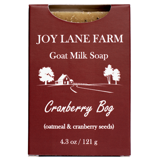 Cranberry Bog Goat Milk Soap for Sensitive Skin with Ground Oatmeal as an Exfoliant by Joy Lane Farm