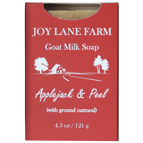 Applejack and Peel Goat Milk Soap for eczema, sensitive skin, and psoriasis made in NH
