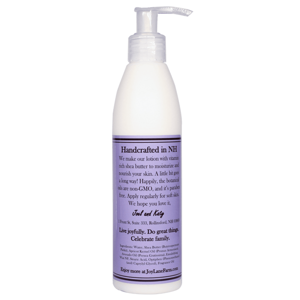 Moisturizing Lilac Body Lotion for Sensitive Skin Made in NH and Paraben Free