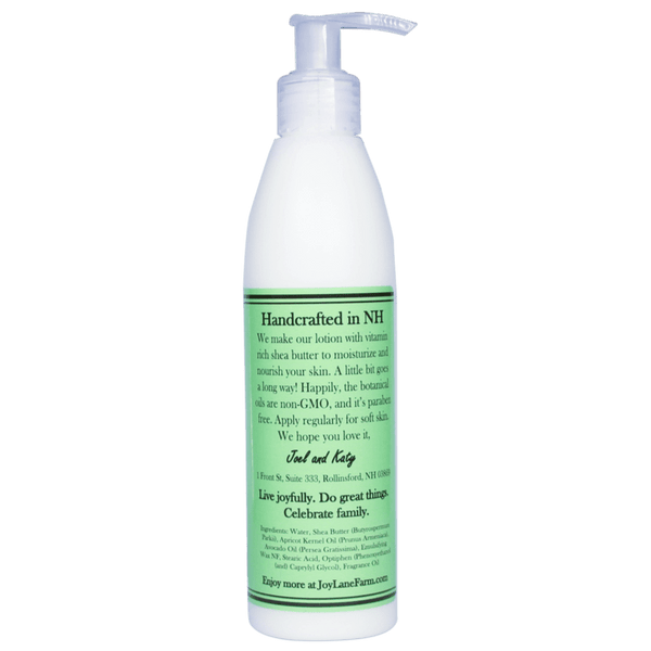Moisturizing Mint Garden Body Lotion for Sensitive Skin Made in NH and Paraben Free by Joy Lane Farm