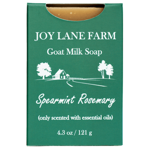 100% Natural Spearmint Rosemary Goat Milk Soap for Eczema with Benefits of Goat Milk for Dry Skin