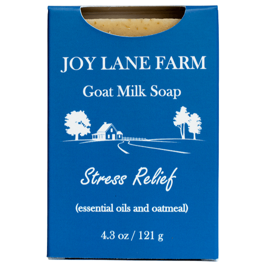 Exfoliating Lavender and Peppermint Goat Milk Soap for Dry Skin with Eczema by Joy Lane Farm