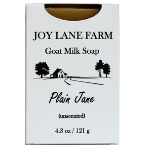 Unscented Goat Milk Bar Soap with Benefits of Goat Milk for Eczema, Psoriasis, and Dry Skin