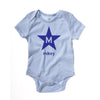 Star - Baby's Name Below & Initial Inside
