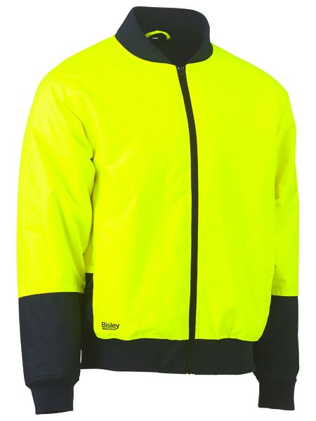 Bisley BJ6730 Two Tone Hi Vis Bomber Jacket