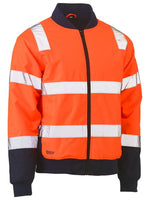 Bisley BJ6730T Taped Two Tone Hi Vis Bomber Jacket