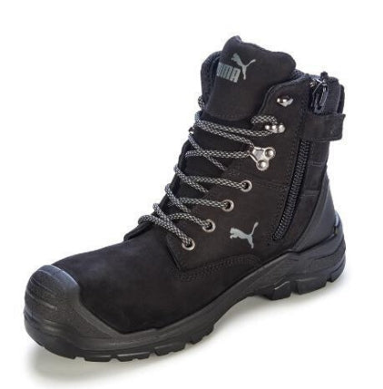 PUMA CONQUEST WATERPROOF SAFETY BOOT-WORK BOOT-BOOTS CLOTHES SAFETY-BLACK-7AU-BOOTS CLOTHES SAFETY