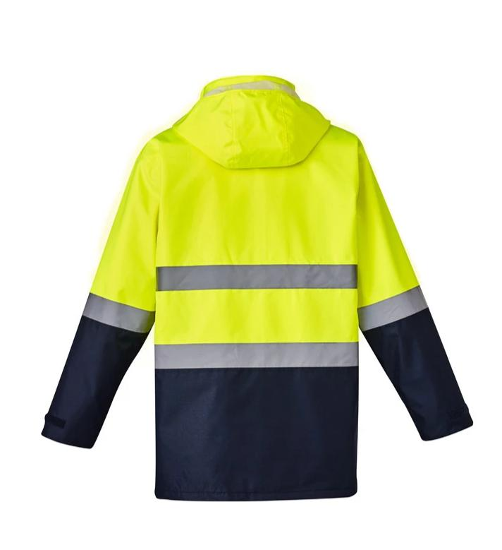 SYZMIK ZJ220 HIVIS 4 IN 1 WATERPROOF JACKET-HI VIS RAINWEAR-BOOTS CLOTHES SAFETY-BOOTS CLOTHES SAFETY