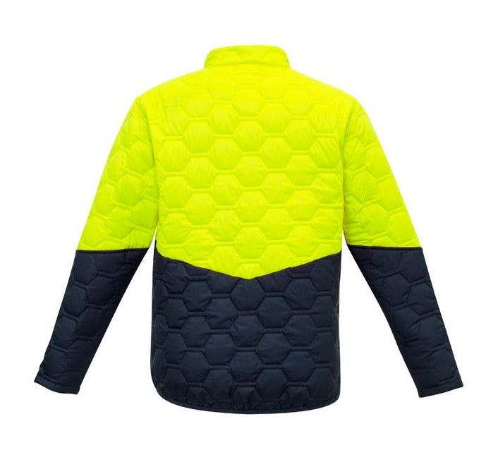 SYZMIK ZJ420 UNISEX HEXAGONAL PUFFER JACKET-HIVIS JACKET-THE BOOTS CLOTHES SAFETY STORE-BOOTS CLOTHES SAFETY