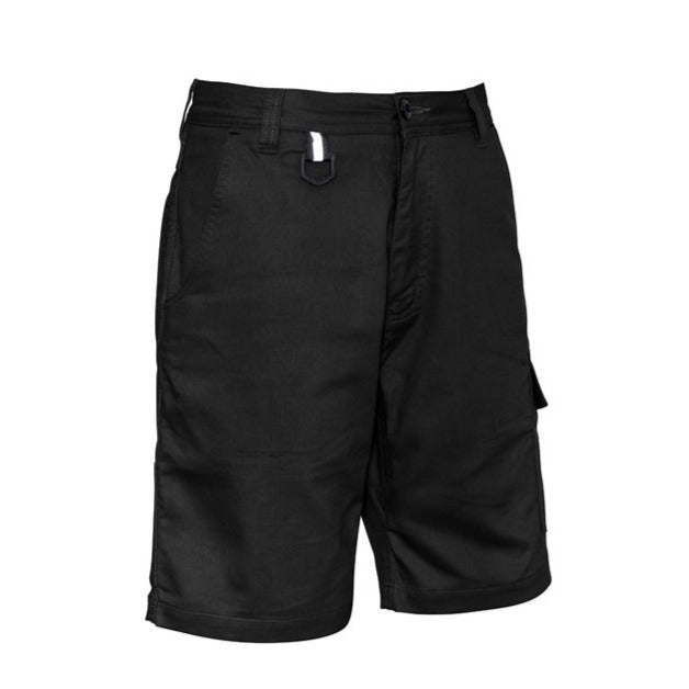 SYZMIK ZS505 RUGGED COOLING VENTED SHORT-WORK SHORTS-THE BOOTS CLOTHES SAFETY STORE-BLACK-77-BOOTS CLOTHES SAFETY