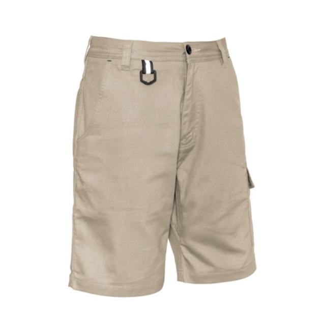 SYZMIK ZS505 RUGGED COOLING VENTED SHORT-WORK SHORTS-THE BOOTS CLOTHES SAFETY STORE-KHAKI-77-BOOTS CLOTHES SAFETY