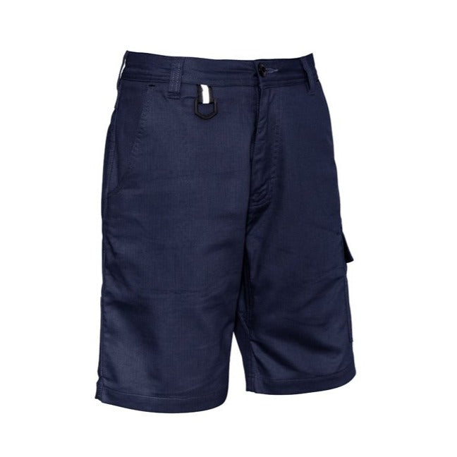 SYZMIK ZS505 RUGGED COOLING VENTED SHORT-WORKWEAR-BOOTS CLOTHES SAFETY-NAVY-77R-BOOTS CLOTHES SAFETY