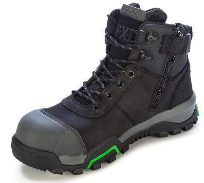 FXD WB-2 4.5 Safety Boot Zip & Bump Cap-WORK BOOT-BOOTS CLOTHES SAFETY-BLACK-4AU-BOOTS CLOTHES SAFETY