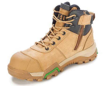 FXD WB-2 4.5 Safety Boot Zip & Bump Cap-WORK BOOT-BOOTS CLOTHES SAFETY-WHEAT-4AU-BOOTS CLOTHES SAFETY