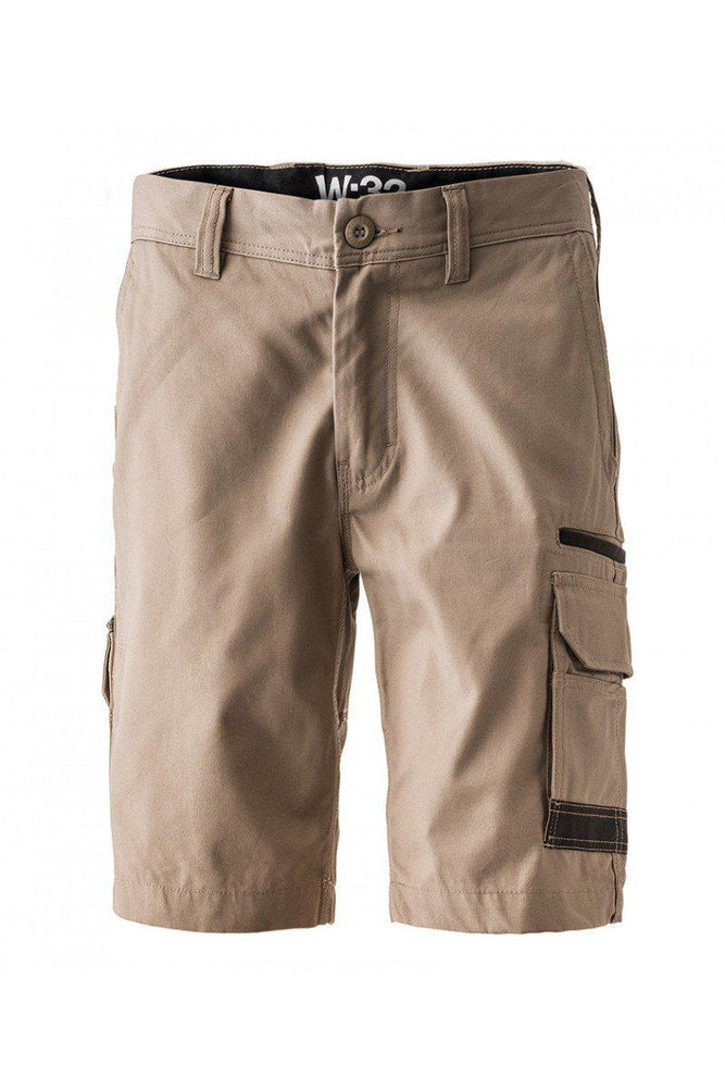FXD WS-3 Stretch Work Short Cargo-WORKWEAR-BOOTS CLOTHES SAFETY-KHAKI-72R-BOOTS CLOTHES SAFETY