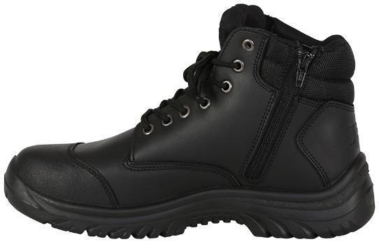 JB'S 9F9 STEELER SAFETY BOOT - ZIP SIDE-WORK BOOT-BOOTS CLOTHES SAFETY-BLACK-7AU-BOOTS CLOTHES SAFETY