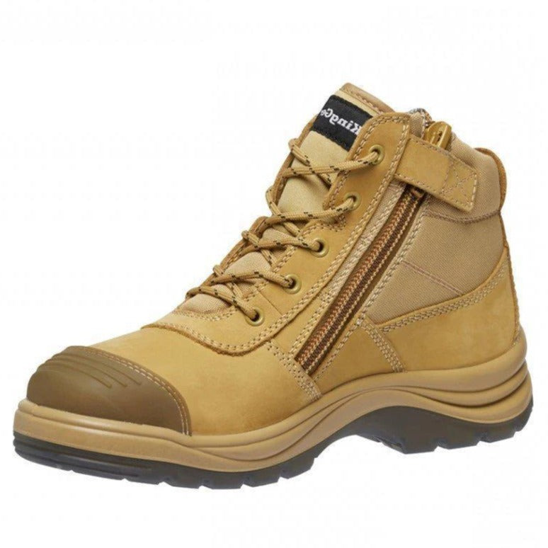 KINGGEE K27125 TRADIE PUNCTURE RESISTANT BOOT-WORK BOOT-BOOTS CLOTHES SAFETY-WHEAT-7AU-BOOTS CLOTHES SAFETY