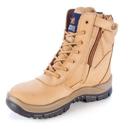 MONGREL 251050 SAFETY BOOT - ZIP SIDE-WORK BOOT-BOOTS CLOTHES SAFETY-WHEAT-7AU-BOOTS CLOTHES SAFETY
