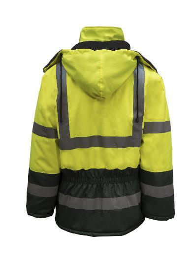 NCC WFJ1001 HI VIS FREEZER JACKET TAPED-FREEZER JACKET-BOOTS CLOTHES SAFETY-BOOTS CLOTHES SAFETY