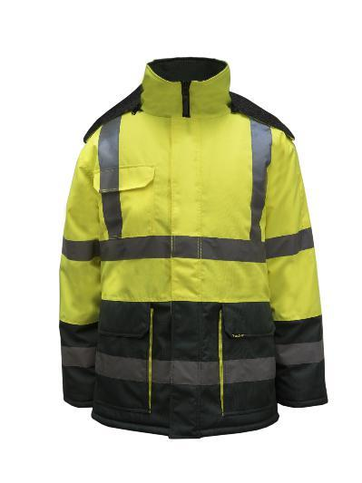 NCC WFJ1001 HI VIS FREEZER JACKET TAPED-FREEZER JACKET-BOOTS CLOTHES SAFETY-YELL/NAVY-SML-BOOTS CLOTHES SAFETY