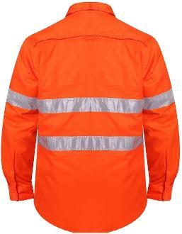 RITEMATE RM108V3R VENTED OPEN FRONT L/W L/S TAPED SHIRT-HI VIS WORK SHIRTS-BOOTS CLOTHES SAFETY-BOOTS CLOTHES SAFETY
