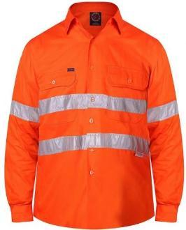 RITEMATE RM108V3R VENTED OPEN FRONT L/W L/S TAPED SHIRT
