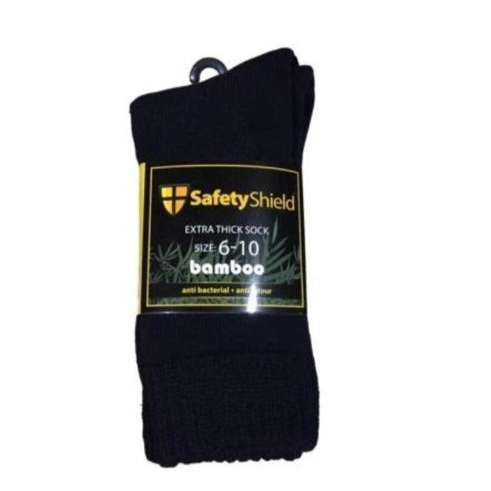 SAFETY SHIELD BAMBOO SOCK 3 PK