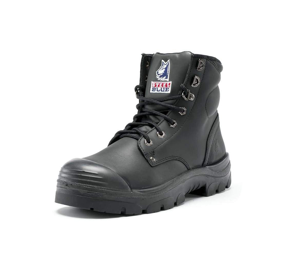 STEEL BLUE 332152 ARGYLE LACE UP BOOT- ZIP & BUMP CAP-WORK BOOT-BOOTS CLOTHES SAFETY-BOOTS CLOTHES SAFETY