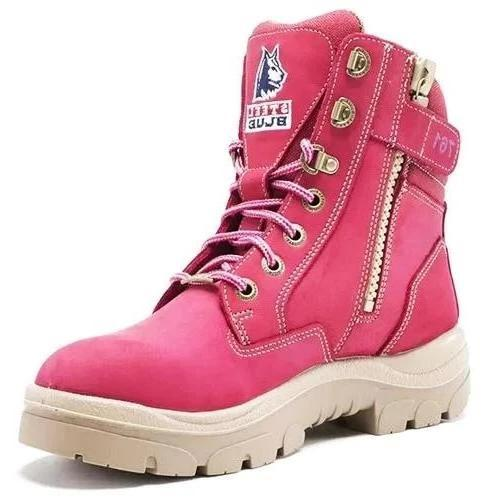 STEEL BLUE 512761 LADIES SOUTHERN CROSS - LACE & ZIP-WORK BOOT-BOOTS CLOTHES SAFETY-PINK-4AU-BOOTS CLOTHES SAFETY