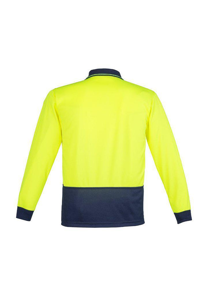 SYZMIK ZH232 UNISEX HI VIS 2 TONE POLO L/S-HI VIS POLO-BOOTS CLOTHES SAFETY-BOOTS CLOTHES SAFETY