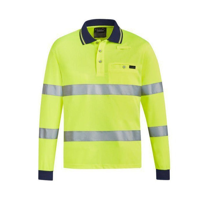 SYZMIK ZH380 UNISEX BIO MOTION TAPED POLO-HI VIS POLO-BOOTS CLOTHES SAFETY-YELLOW-SML-BOOTS CLOTHES SAFETY