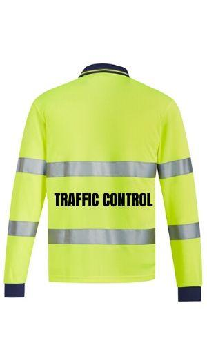 SYZMIK ZH380TC UNISEX BIO MOTION POLO TRAFFIC CONTROL-HI VIS POLO-BOOTS CLOTHES SAFETY-BOOTS CLOTHES SAFETY