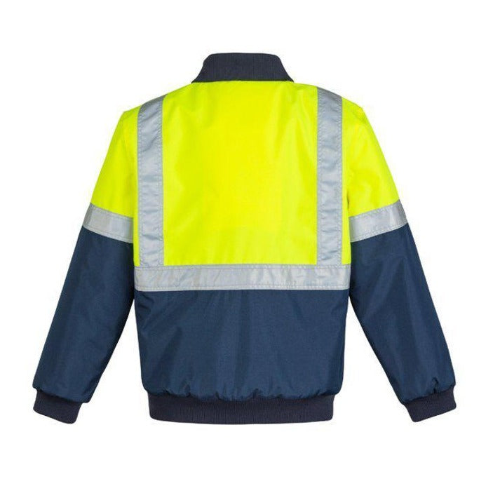 SYZMIK ZJ351 HI VIS QUILTED FLYING JACKET-HI VIS RAINWEAR-BOOTS CLOTHES SAFETY-BOOTS CLOTHES SAFETY