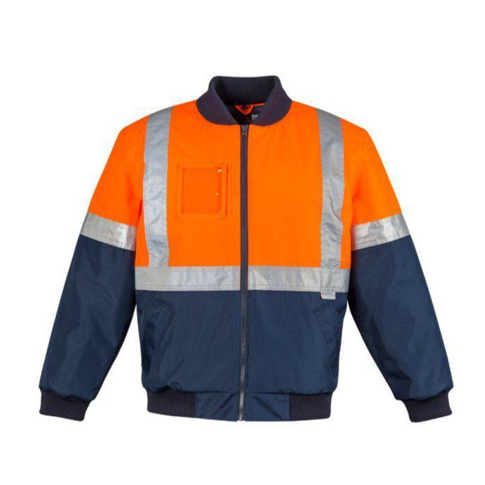 SYZMIK ZJ351 HI VIS QUILTED FLYING JACKET
